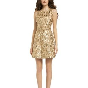 Alice + Olivia Lindsey Gold Sequin Mini Dress